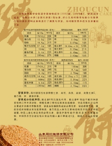 周村烧饼宣传单页图片