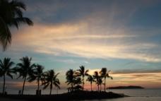 文莱 美人鱼岛 日落图片