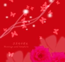 红色浪漫婚纱模板图片