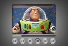 玩具總動員 網頁視頻播放器界面圖片